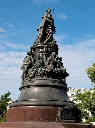 Monument to Catherine the Great in St Petersburg, Russia