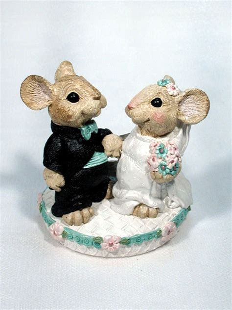 Mice Wedding Bride and Groom Cake Topper