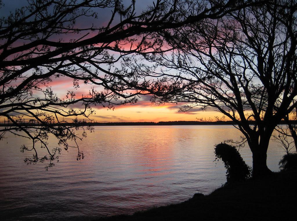 Enjoying a sunset in Salto, Uruguay