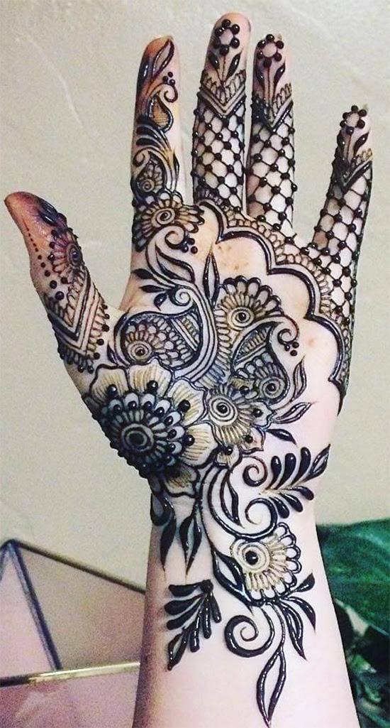 Tasmim Blog Simple Mehndi Design For Left Hand Palm