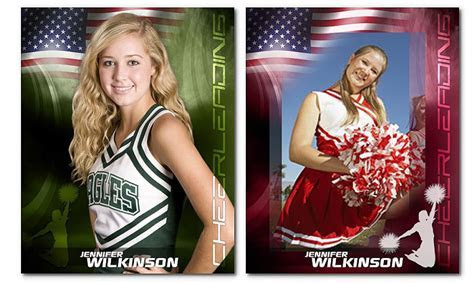 Cheerleading Photoshop Templates