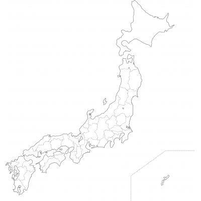 素材日本地図白地図 ニコニコモンズ