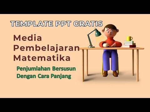 Pembelajaran Matematika SD Penjumlahan Bersusun Gratis Template PPT