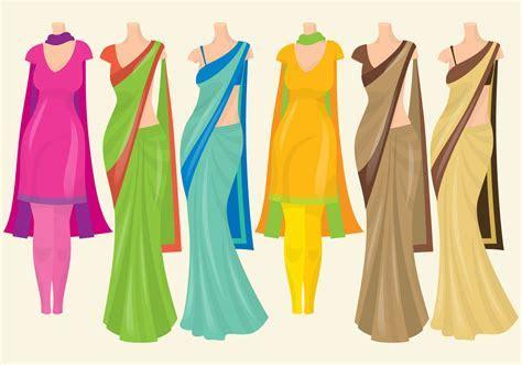Indian Dresses   Download Free Vectors, Clipart Graphics