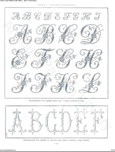 free monogram patterns 4