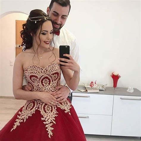 Wine Red Wedding Dress,Burgundy Wedding Gowns,Ball Gown