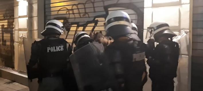 Στιγμιότυπο από τη σύλληψη του δράστη