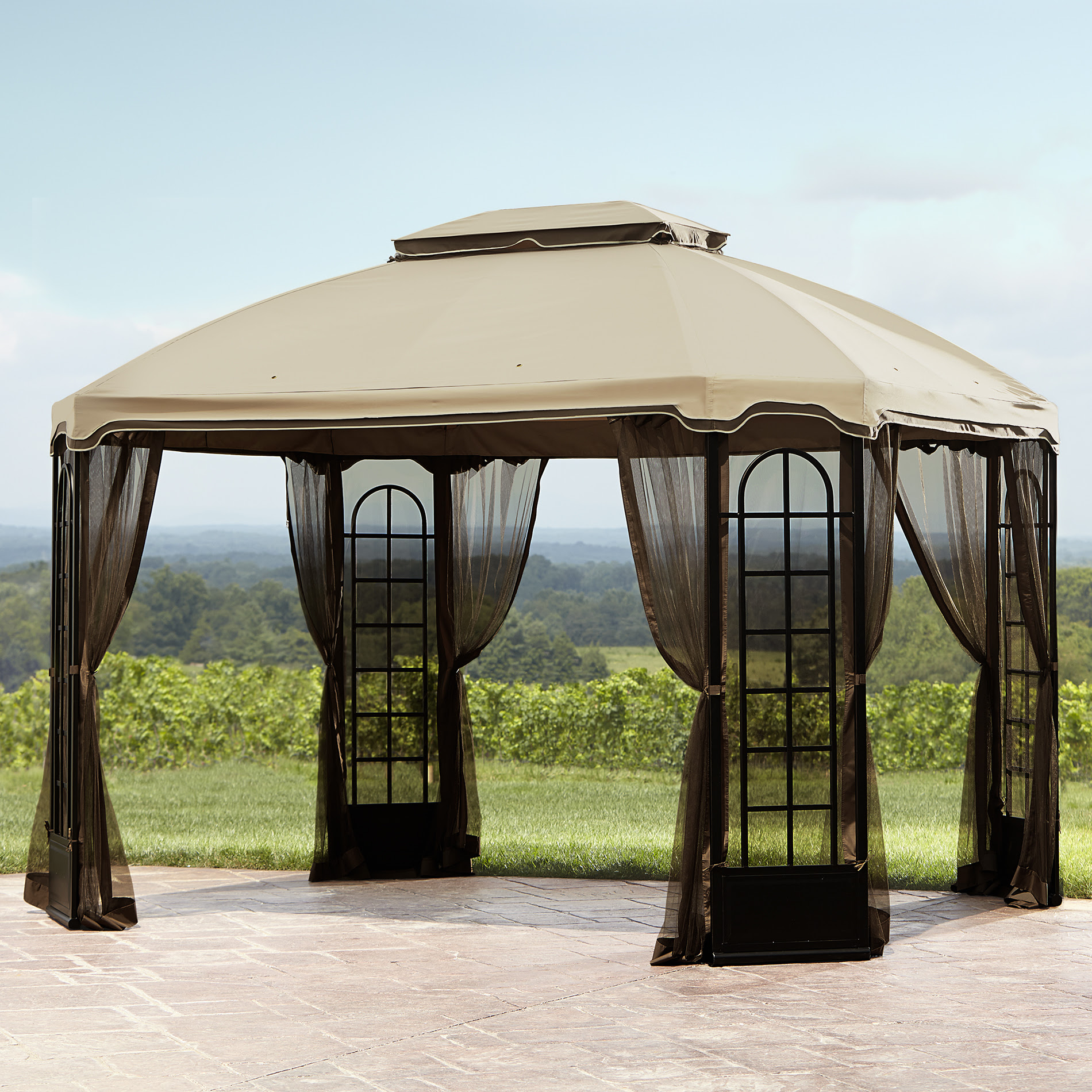 Essential Garden Replacement Canopy for Terrace Gazebo ...