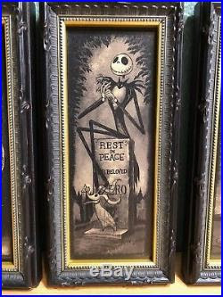 Nib Set Of 4 Disney Parks Haunted Mansion Nightmare Before Christmas