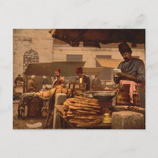 street cook in Istanbul from the 19th century Post Cards