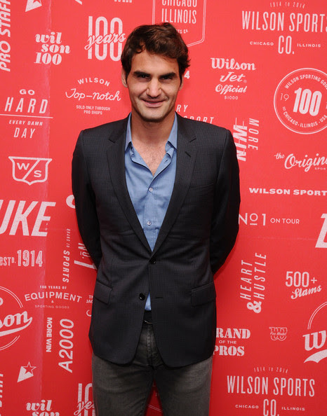 Roger Federer - Wilson 100 Year Anniversary Cocktail Party