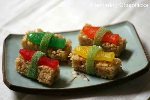 Dessert Sushi with Swedish Fish Candy and Rice Krispies Treats 2