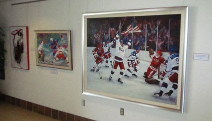 The US Hockey Hall of Fame's art gallery