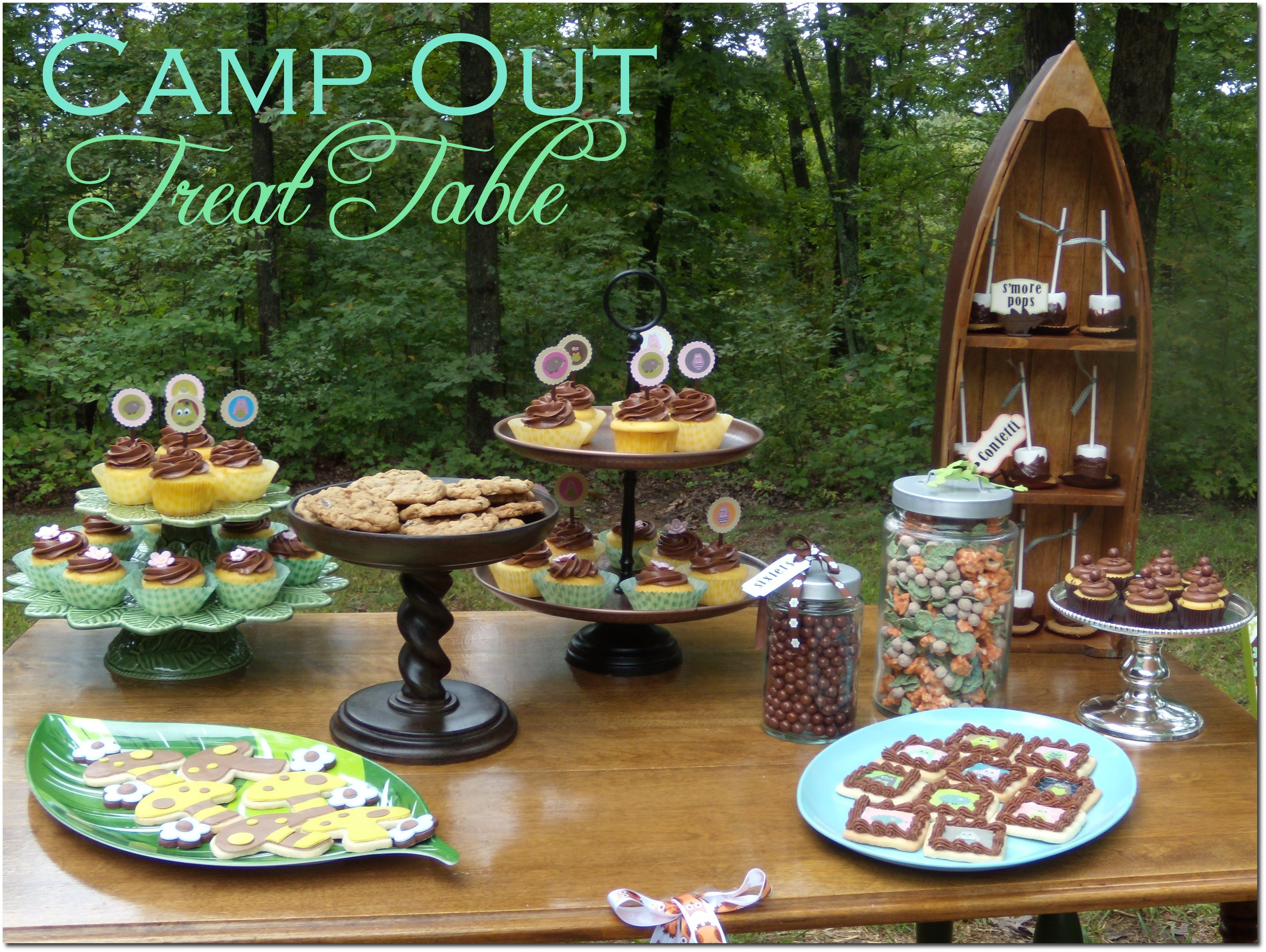 Camp Out Treat Table Pizzazzerie
