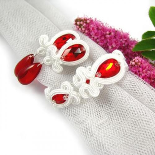Czerwona biżuteria ślubna sutasz