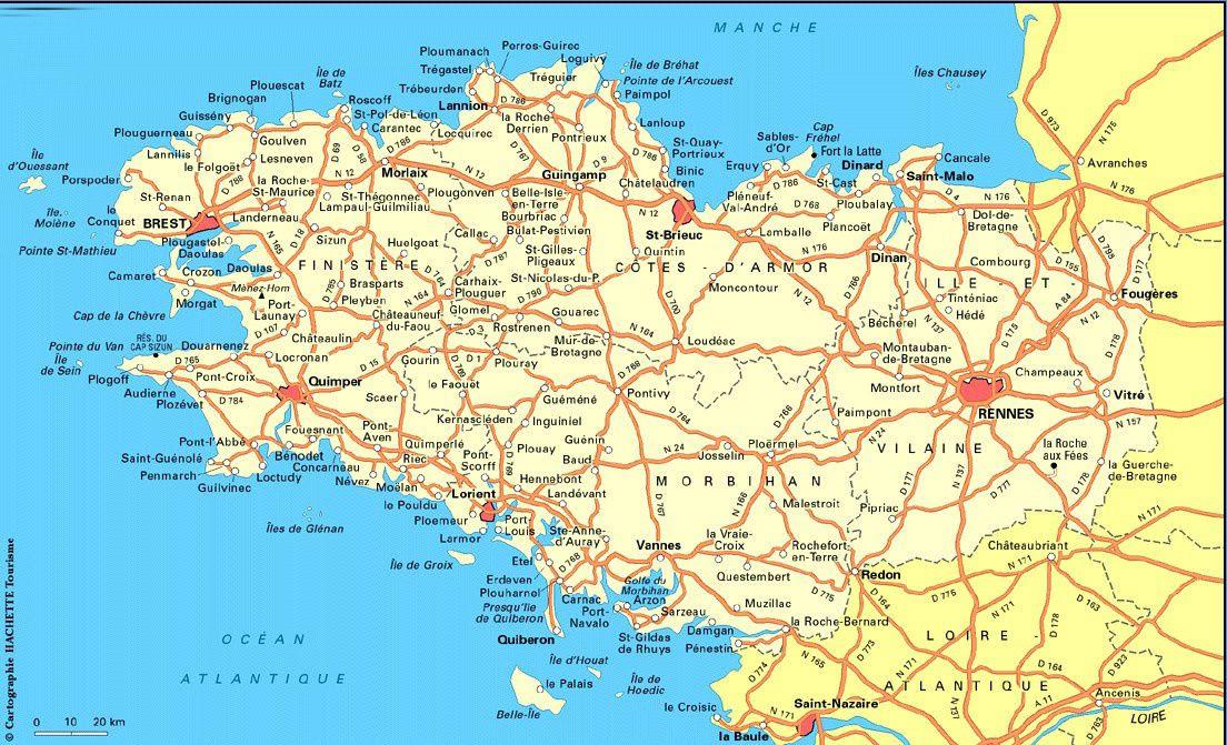 BRETAGNE CARTE ~ World Of Map
