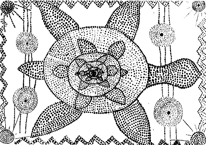 Coloriage Anti Stress Art Aborigene Tortue 2