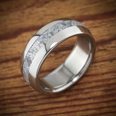 Meteorite ring by Spexton Jewelers. Unique as a men's
