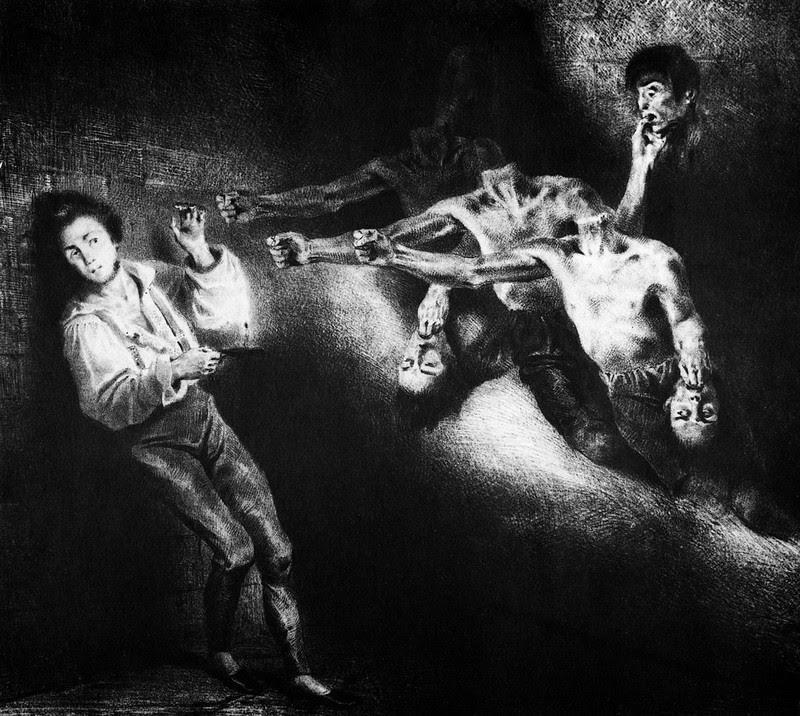 Louis Boulanger - Illustration for Le Dernier Jour d'un Condamne by Victor Hugo, c. 1830