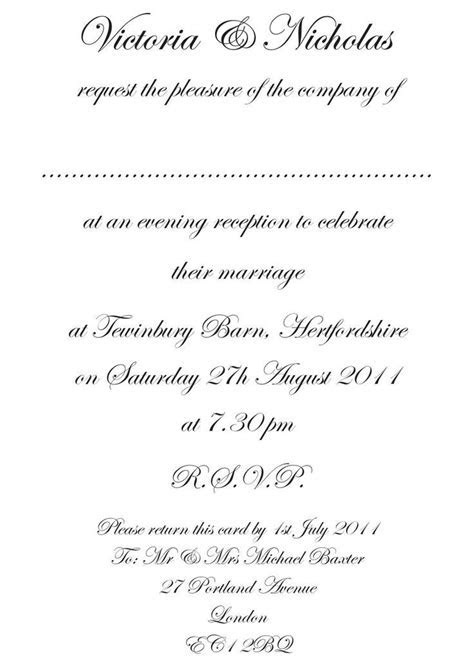 Wedding Reception Only Invitations Wording   Wedding