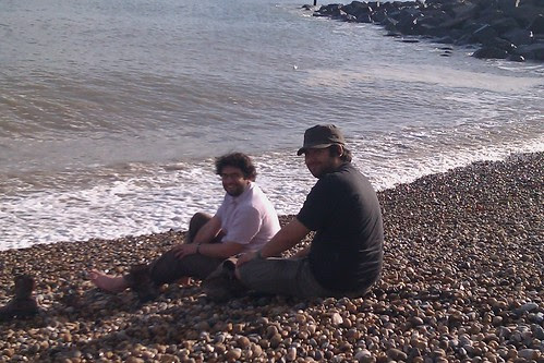 Nic and Dom on Folkestone seafront