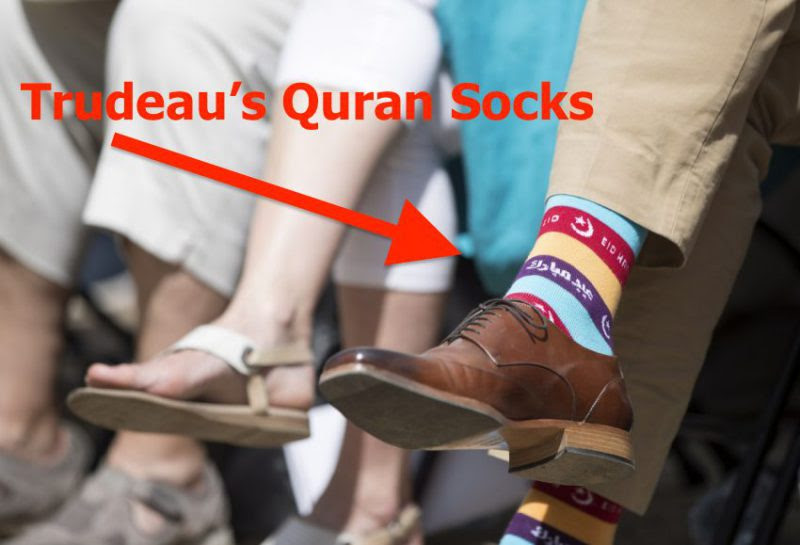 Image result for canadian prime minister sock