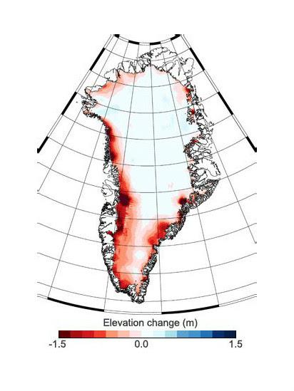 Mapa da Groenlândia