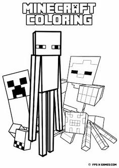 Kleurplaten Minecraft Draak.Kleurplaat Minecraft
