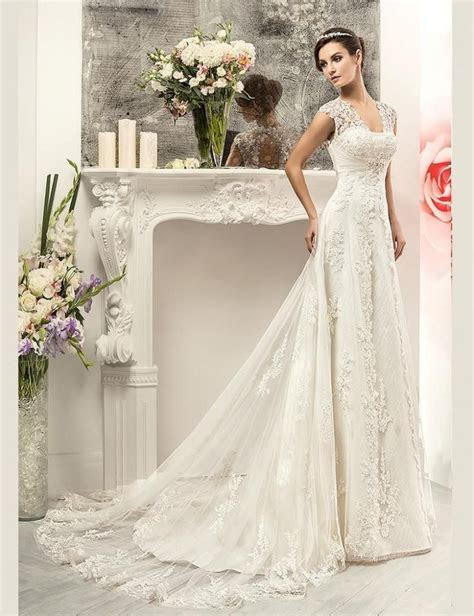 Vintage 2016 Lace Sweetheart Modest Country Wedding