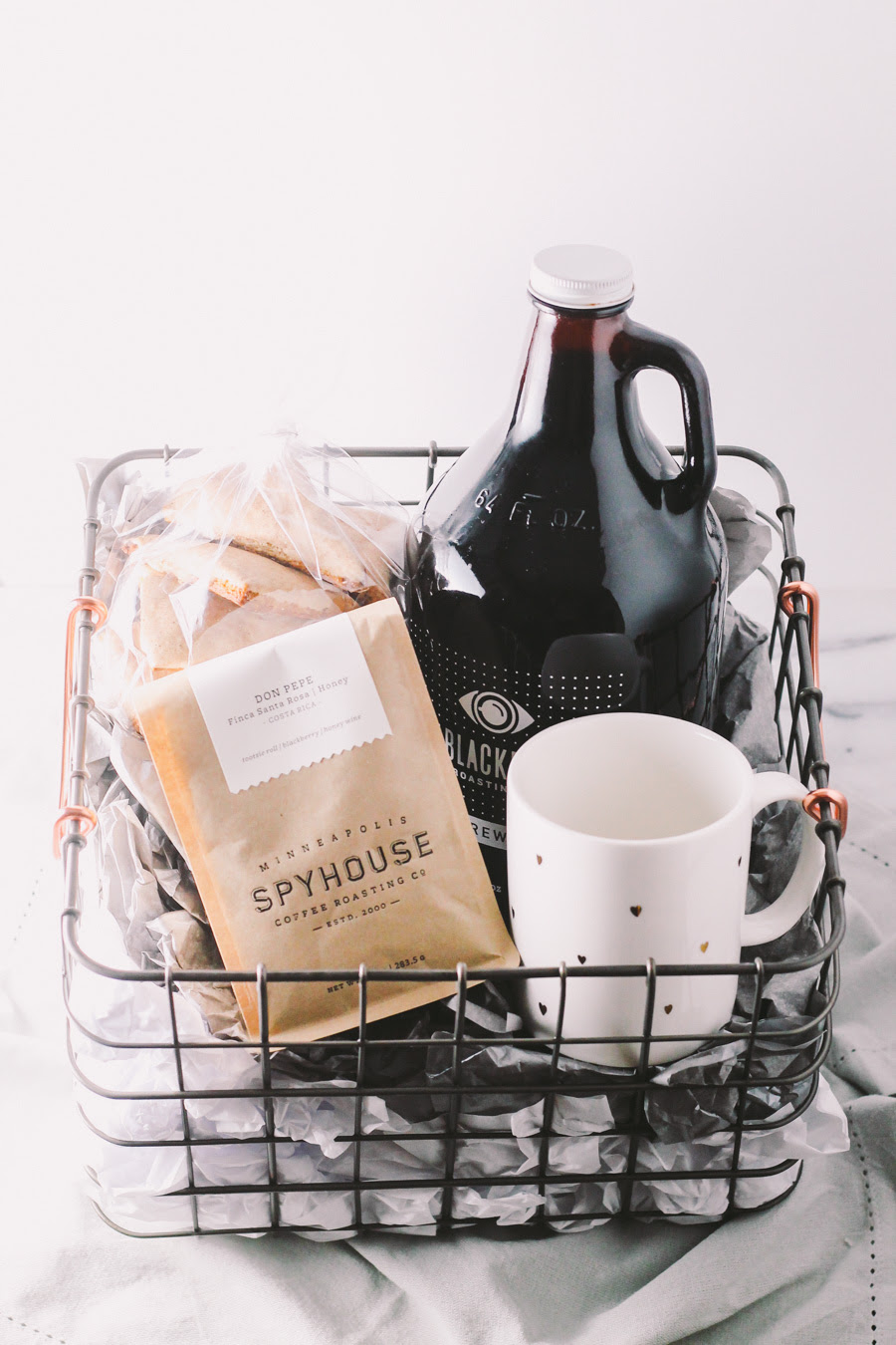 coffee gift basket for the holidays via playswellwithbutter