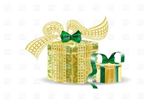 Birthday present boxes on the white background Vector