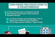 Pencegahan Virus Corona atau COVID-19 di Lingkungan Pendidikan