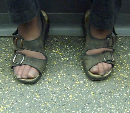Birkenstocks and tights