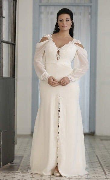 Bishop Sleeve Plus Size Wedding Gown by Darius Bridal