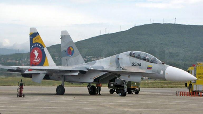 Un avión caza Sukhoi-30 como el que se precipitó a tierra