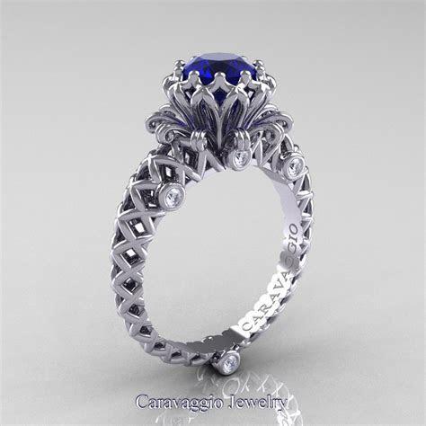 Caravaggio Lace 14K White Gold 1.0 Ct Blue Sapphire
