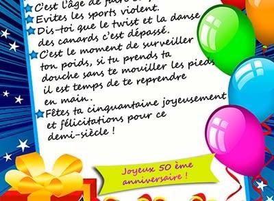 Carte Bon Anniversaire 50 Ans Carte Fiolazoezoey Web