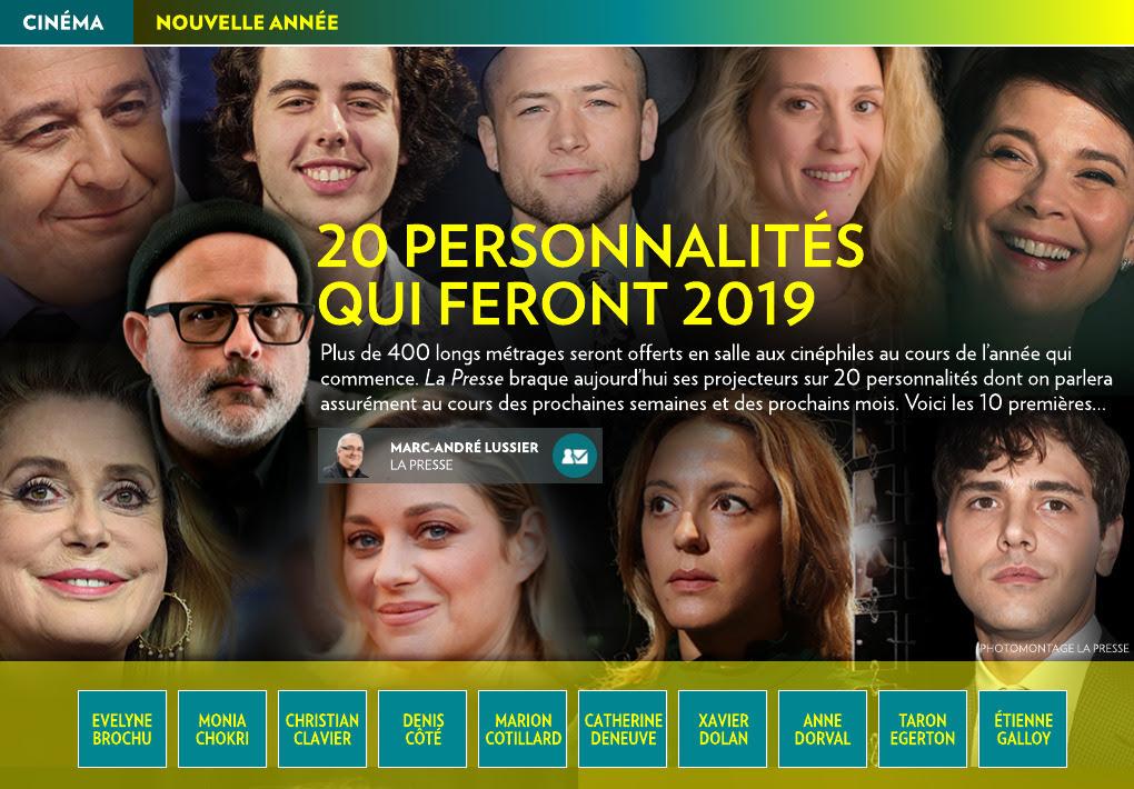 20 Personnalités Qui Feront 2019 1 De 2 La Presse