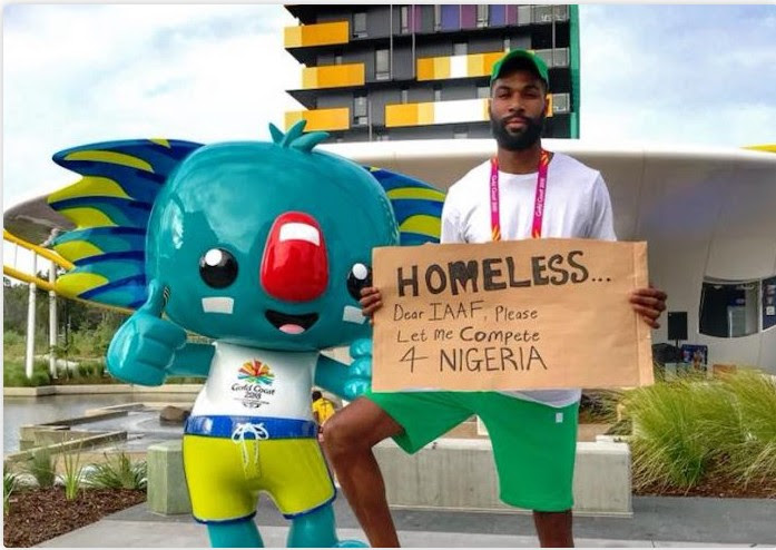 Mike Edwards Begs To Compete For Nigeria At The Commonwealth Games (Photos)