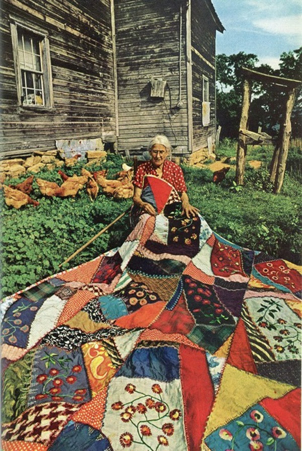 Grannies Patchwork quilt