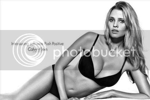Lara Stone on Calvin Klein Lingerie Ads