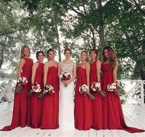 Red Bridesmaid Dresses 2017 Sweetheart Cheap Price Wedding