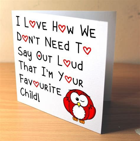 Mothers Day Card   Red Owl Card   Dad Greeting Card