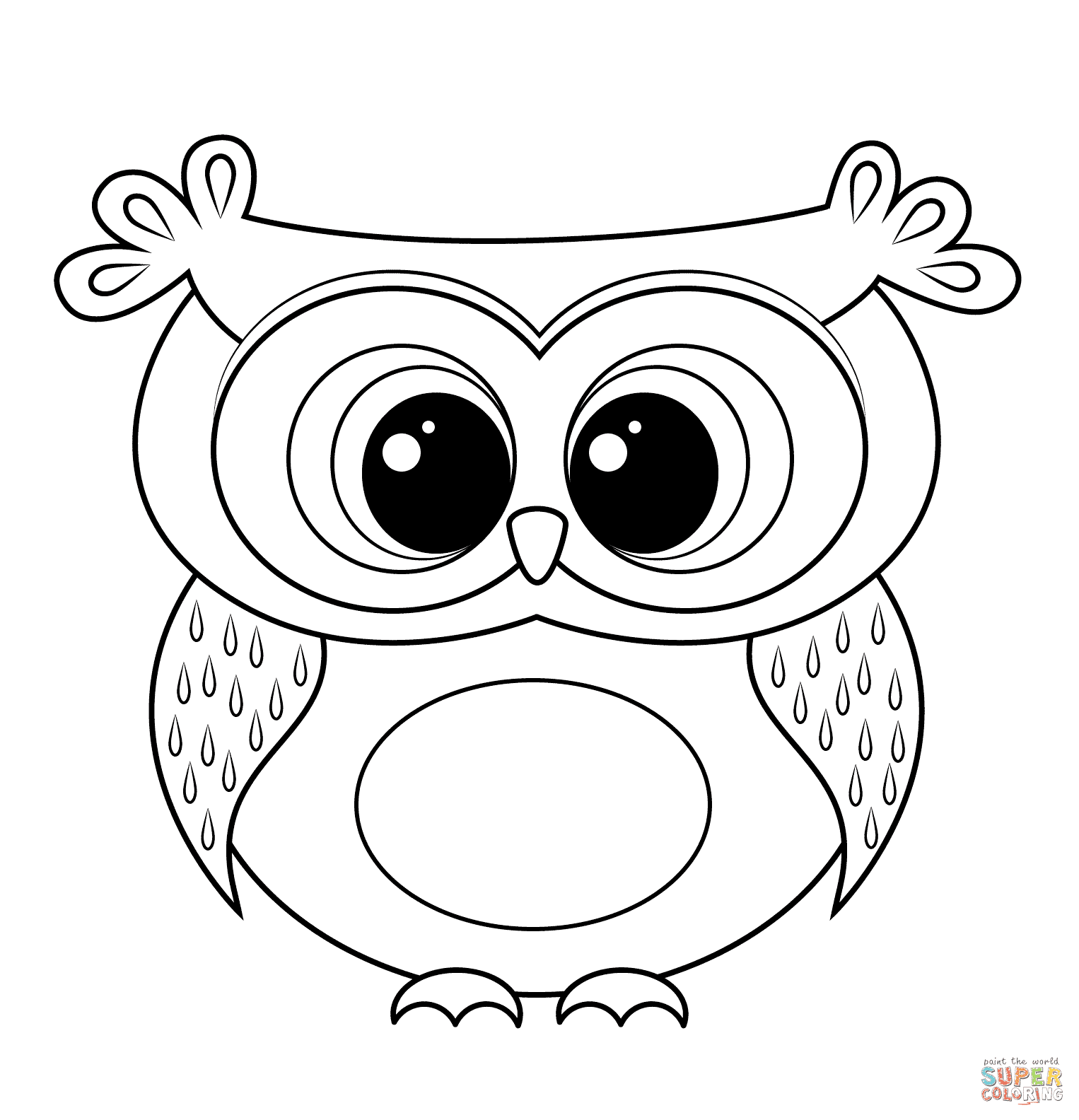 Owls Group Cartoon Characters Coloring Book Black And White Cartoon