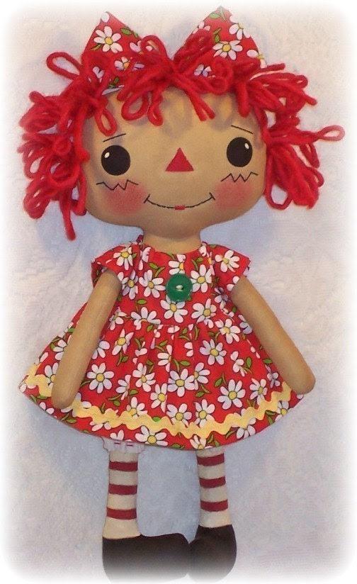 Doll Pattern, Rag Doll Pattern, Cloth Doll pattern PDF Sewing Pattern, ePattern