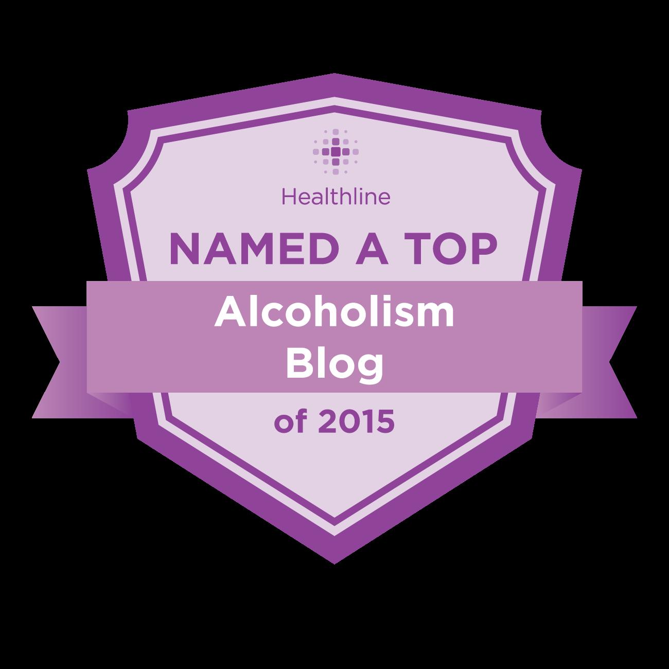 alcoholism best blogs badge