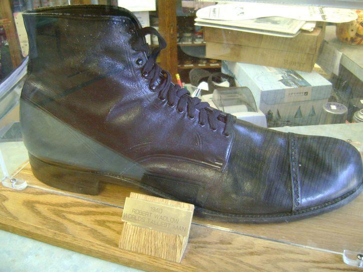 zapato de Robert Wadlow