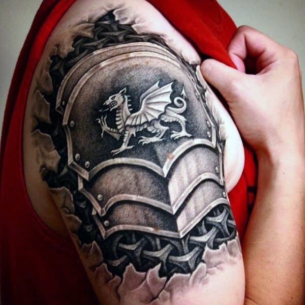 70 Quarter Sleeve Tattoo Designs For Men Masculine Ink Ideas