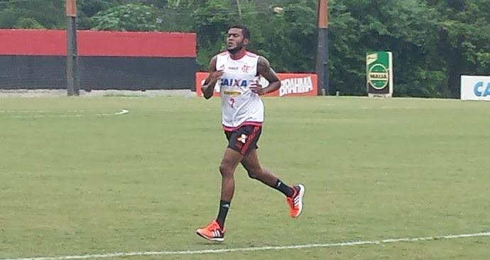Marcelo Cirino - treino Flamengo (Foto: Chandy Teixeira)