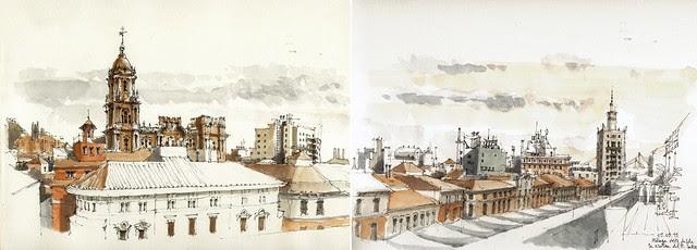 Málaga roofscape